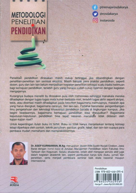 Cover Belakang Buku Metodologi Penelitian Pendidikan