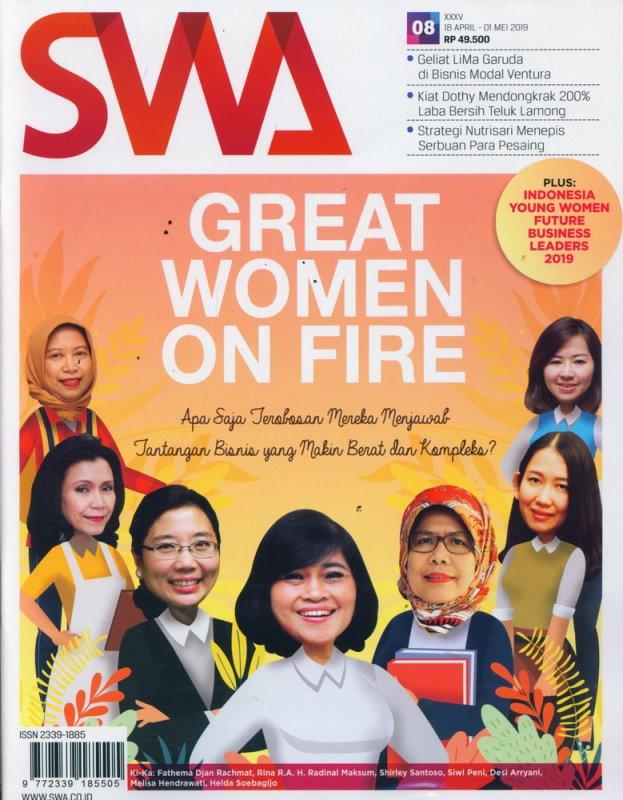Cover Buku Majalah SWA Sembada No. 08 | 18 April - 01 Mei 2019