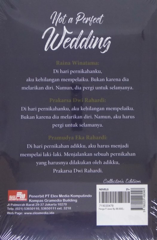 Cover Belakang Buku Le Mariage: Not a Perfect Wedding (Collector's Edition)