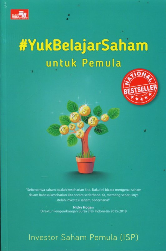 Cover Buku #Yuk Belajar Saham untuk Pemula