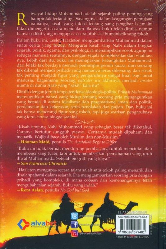 Cover Belakang Buku Pribadi Muhammad - Hard Cover