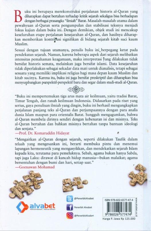 Cover Belakang Buku Rekonstruksi Sejarah Al-Quran - Hard Cover