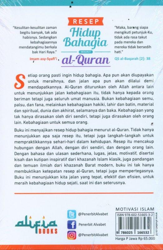Cover Belakang Buku Resep Hidup Bahagia Menurut al-Quran
