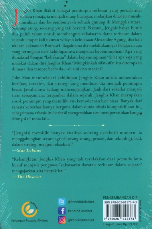 Cover Belakang Buku Rahasia Kepemimpinan Jenghis Khan
