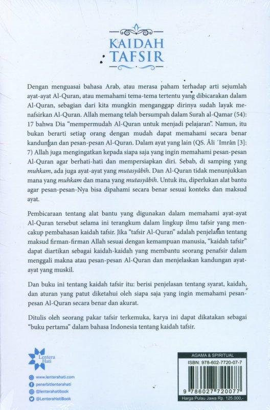 Cover Belakang Buku Kaidah Tafsir