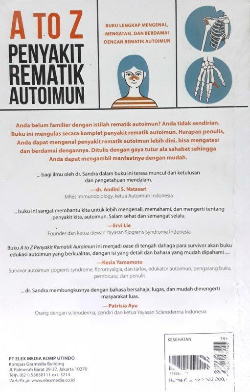 Cover Belakang Buku A to Z Penyakit Rematik Autoimun
