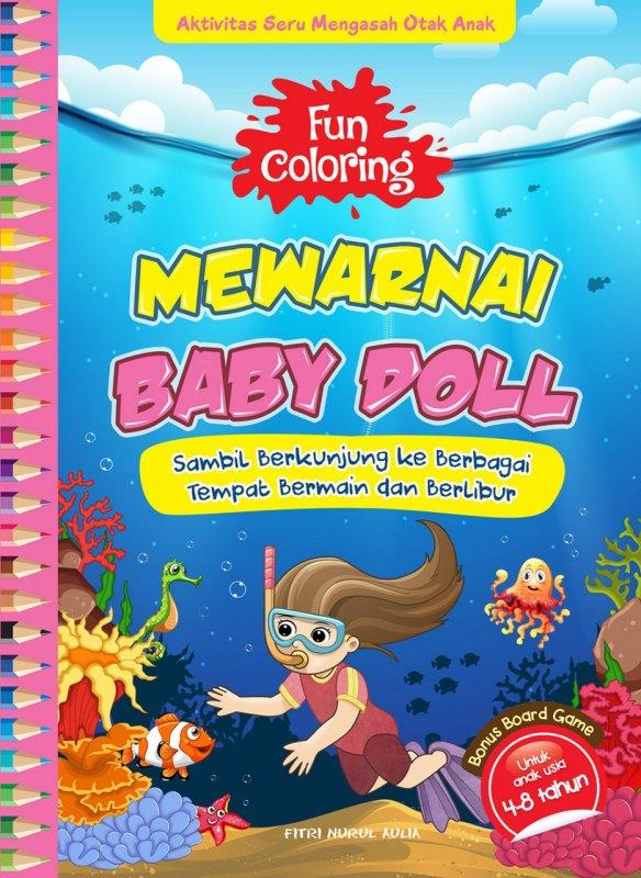 Cover Buku Fun Coloring Mewarnai Baby Doll