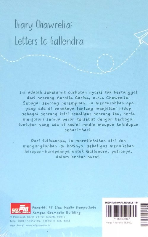 Cover Belakang Buku Diary Chawrelia: Letters To Gallendra