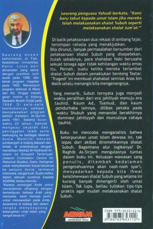 Cover Belakang Buku Misteri Shalat Subuh (Edisi Revisi)