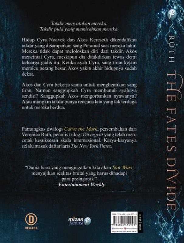 Cover Belakang Buku The Fates Divide