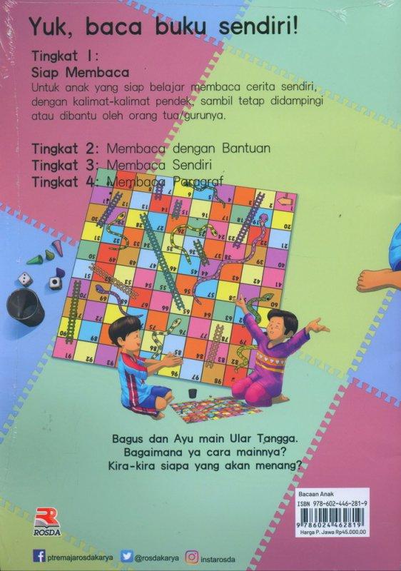 Cover Belakang Buku Bagus dan Ayu Main Ular Tangga #1