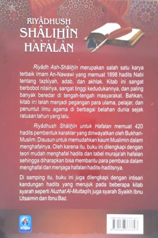 Cover Belakang Buku Riyadhush Shalihin Untuk Hafalan