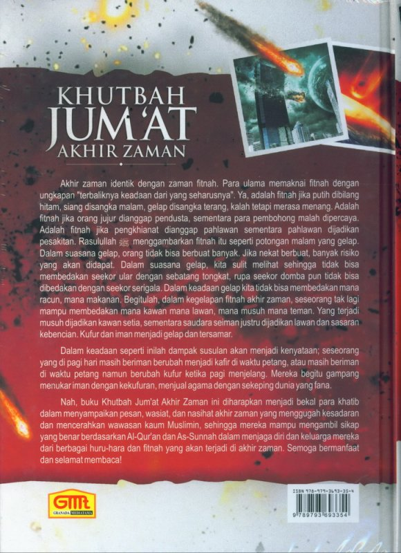 Cover Belakang Buku Khutbah Jumat Akhir Zaman (Hard Cover)