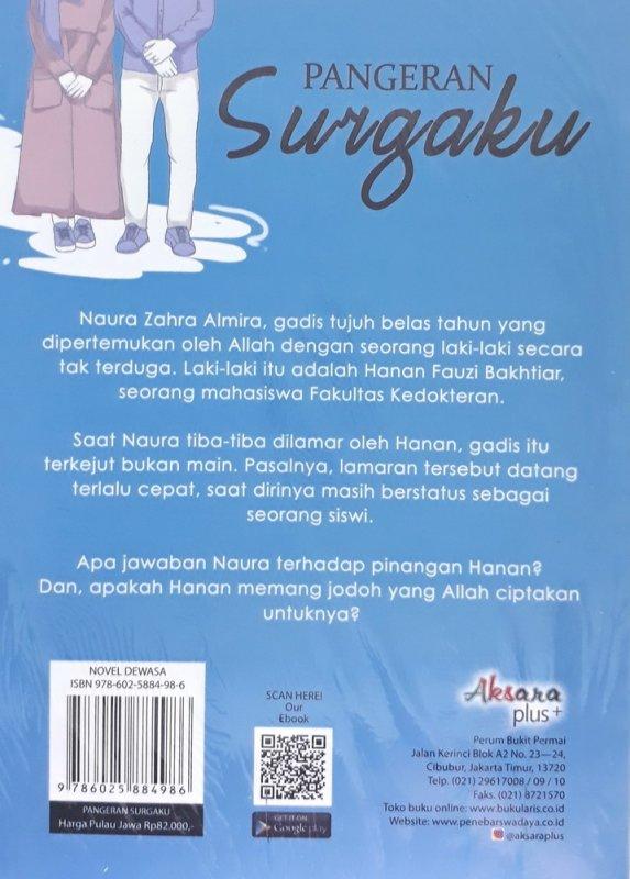 Cover Belakang Buku Pangeran Surgaku