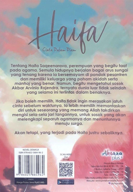 Cover Belakang Buku Haifa Cinta Dalam Diam