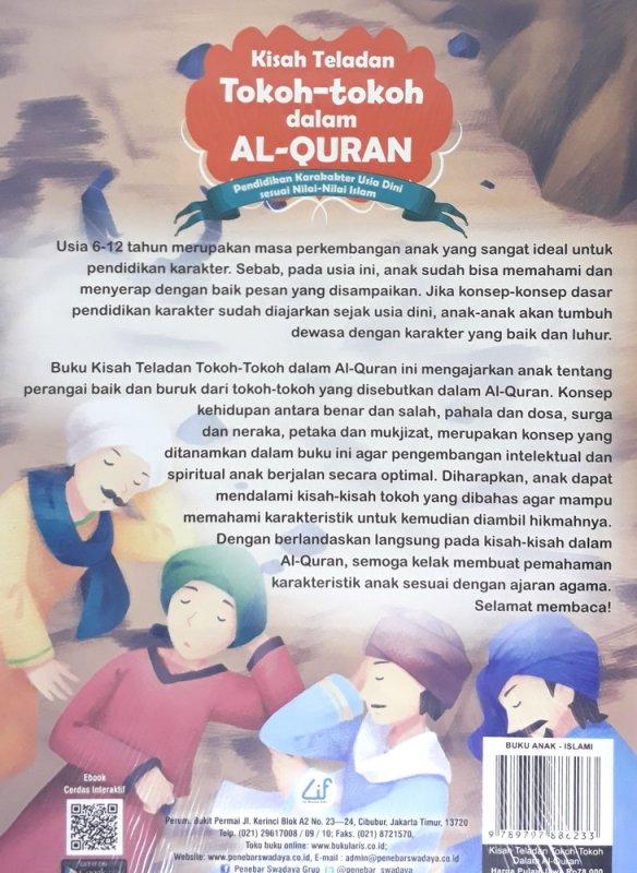 Cover Belakang Buku Kisah Teladan Tokoh-tokoh dalam Al-Quran