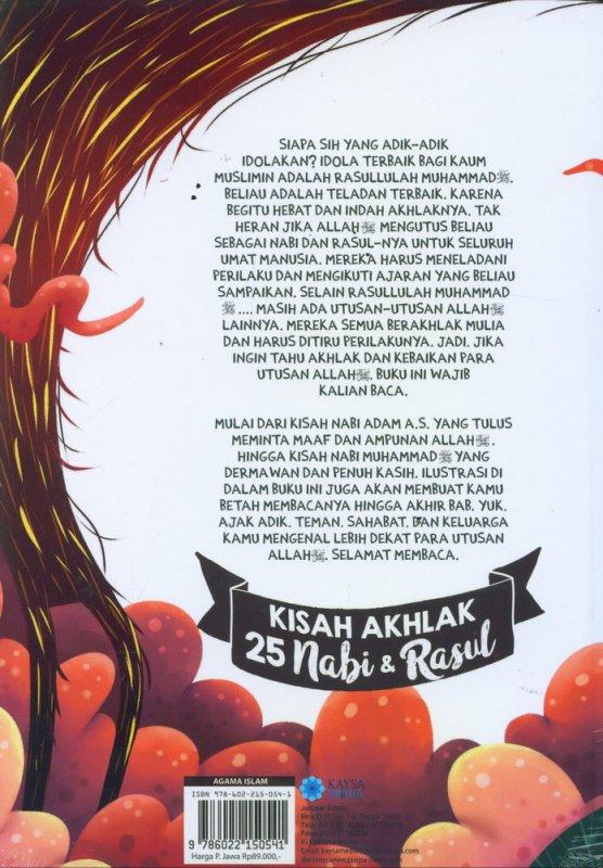 Cover Belakang Buku Kisah Akhlak 25 Nabi & Rasul