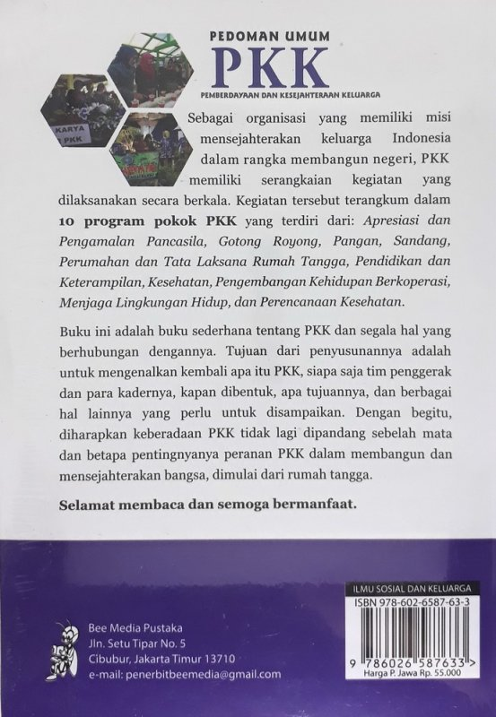 Cover Belakang Buku Pedoman Umum PKK