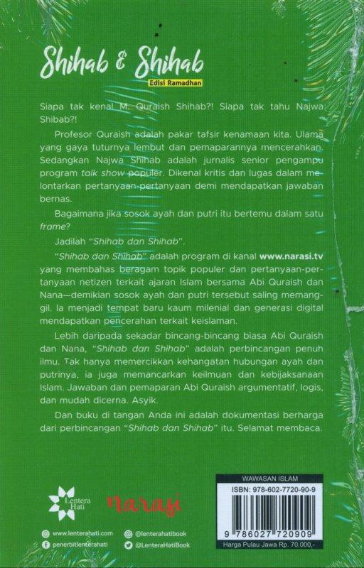 Cover Belakang Buku Shihab dan Shihab Edisi Ramadhan