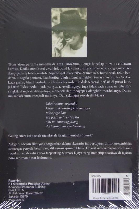 Cover Belakang Buku Aku CHAIRIL ANWAR (Cover Baru 2019)