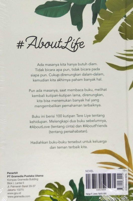 Cover Belakang Buku #Aboutlife (Hard Cover)