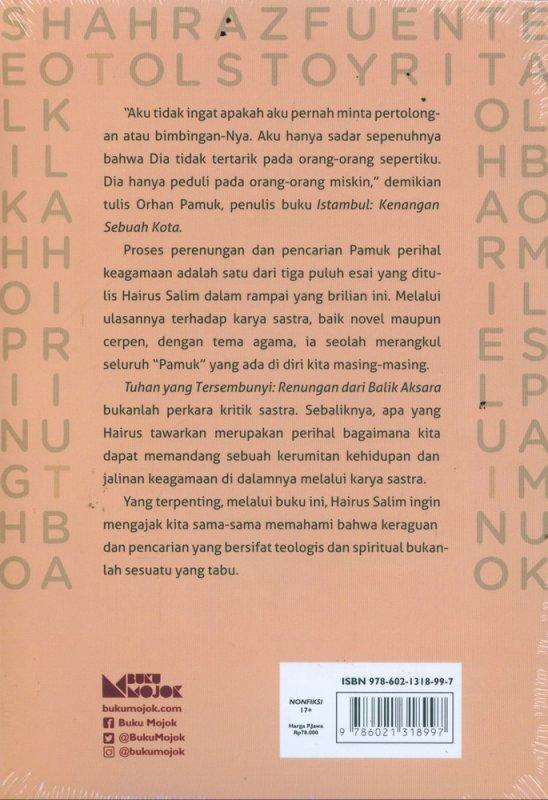 Cover Belakang Buku Tuhan Yang Tersembunyi: Renungan dari Balik Aksara