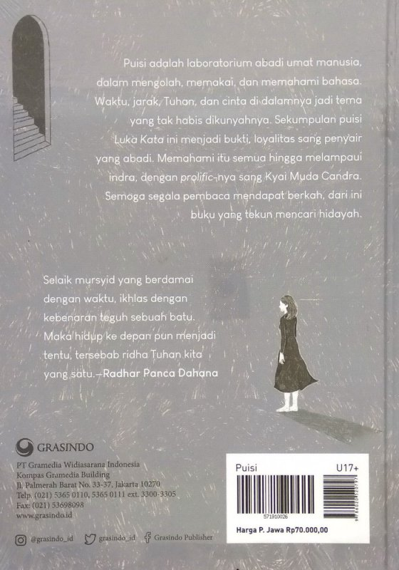 Cover Belakang Buku Luka Kata - Sekumpulan Puisi (Hard Cover)