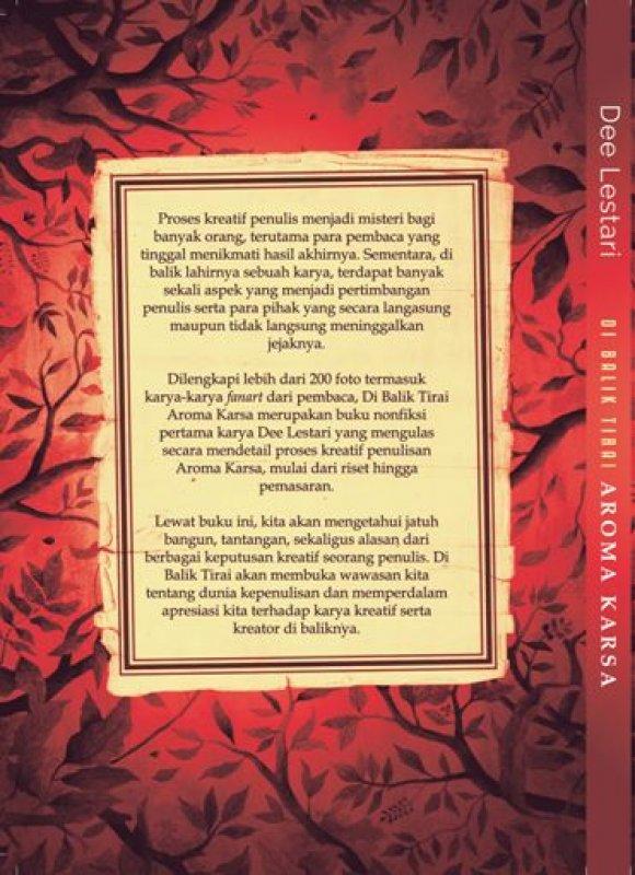 Cover Belakang Buku Di Balik Tirai Aroma Karsa Edisi TTD Dee Lestari + Totebag
