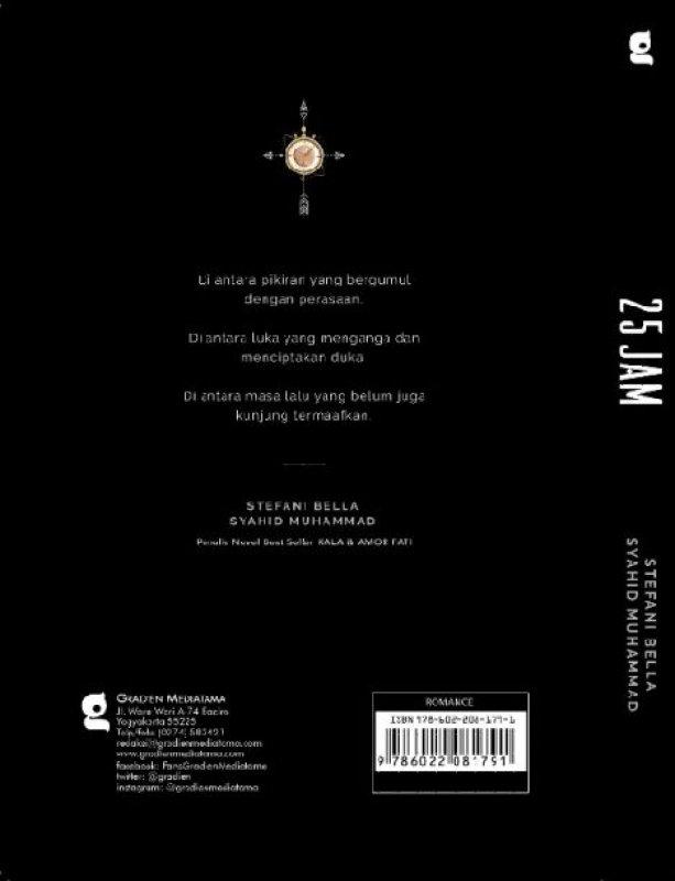 Cover Belakang Buku 25 Jam Edisi TTD Penulis + Bonus Note (Promo Best Book)