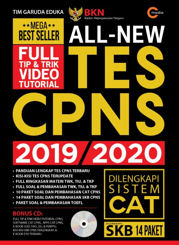 Cover Buku ALL NEW TES CPNS 2019-2020 (Promo Best Book)