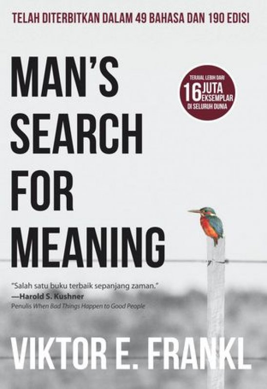Cover Depan Buku Man's Search For Meaning