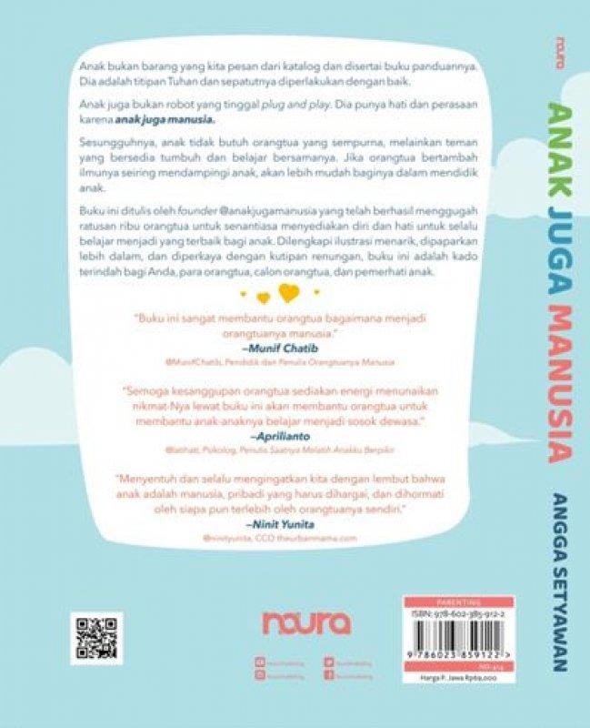 Cover Belakang Buku Anak Juga Manusia