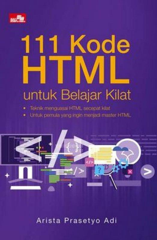 Cover Buku 111 Kode HTML untuk Belajar Kilat
