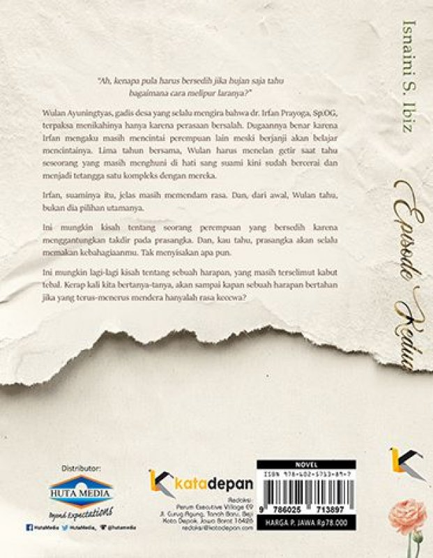 Cover Belakang Buku Episode Kedua + Bonus Postcard