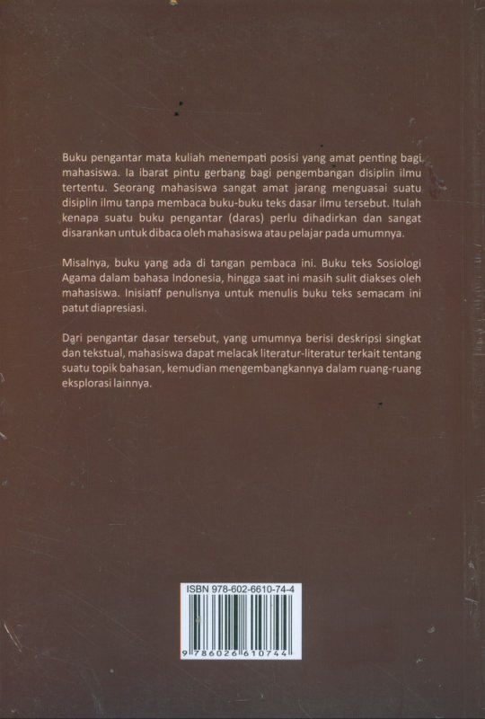 Cover Belakang Buku Sosiologi Agama