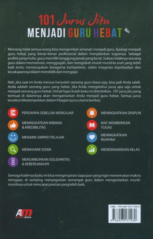 Cover Belakang Buku 101 Jurus Jitu Menjadi Guru Hebat