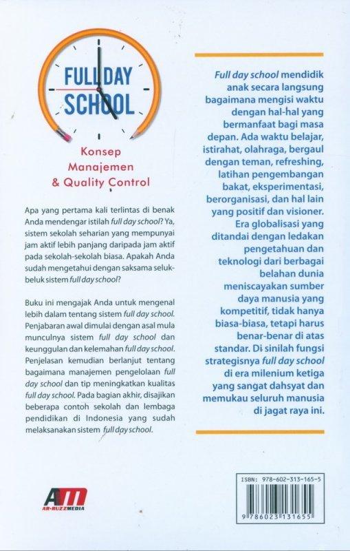 Cover Belakang Buku Full Day School - Konsep Manajemen & Quality Control