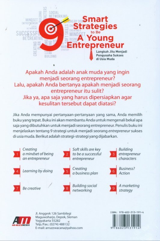 Cover Belakang Buku 9 Smart Strategies to Be A Young Entrepreneur