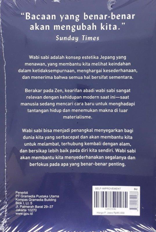 Cover Belakang Buku Wabi Sabi: Menemukan Keindahan dalam Ketidaksempurnaan