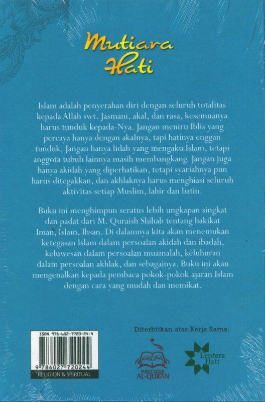 Cover Belakang Buku Mutiara Hati