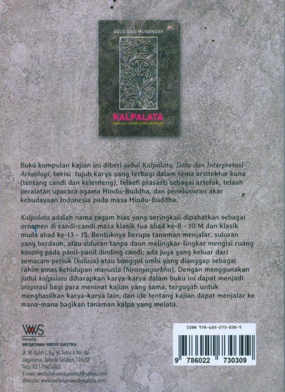 Cover Belakang Buku KALPALATA Data dan Interpretasi ARkeologi