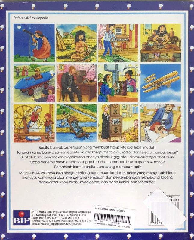 Cover Belakang Buku Ensiklopedia Junior : Penemuan (Hard Cover)