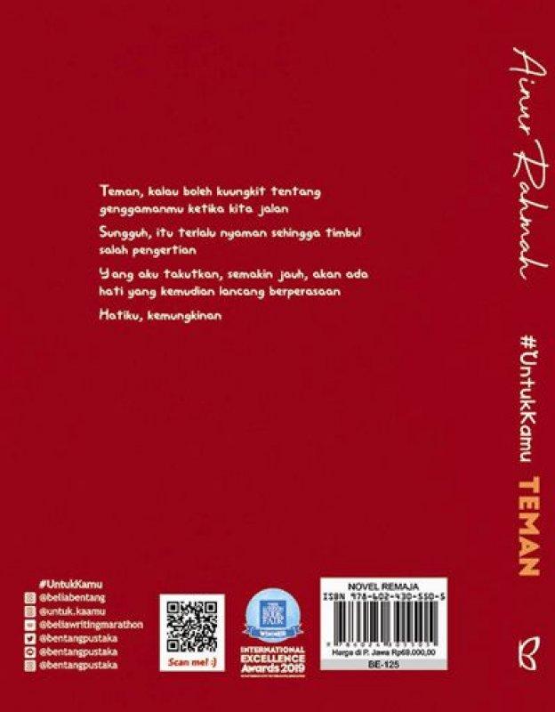 Cover Belakang Buku UntukKamu TEMAN
