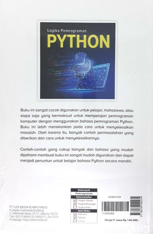 Cover Belakang Buku Logika Pemrograman Python