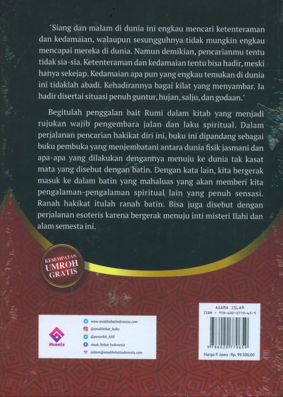 Cover Belakang Buku FIHI MA FIHI: Manifestasi Cinta dan Kebijaksanaan Rumi (Hard Cover)