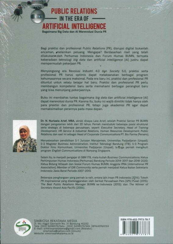 Cover Belakang Buku Public Relations In The Era of Artificial Intelligence