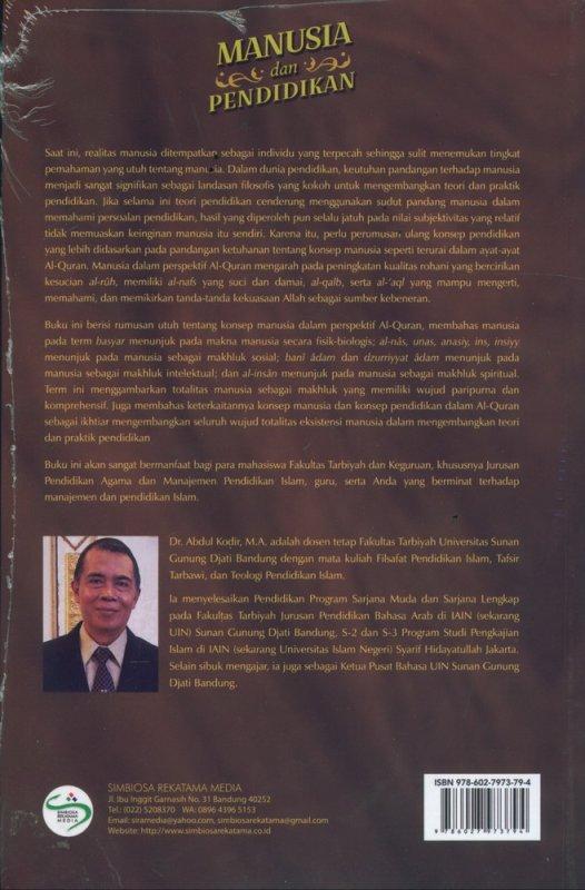 Cover Belakang Buku Manusia dan Pendidikan (Perspektif Al-Quran)
