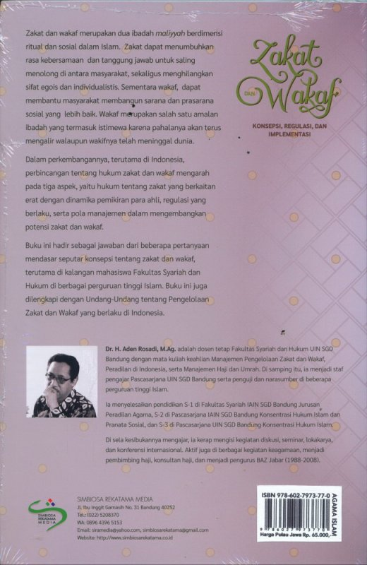Cover Belakang Buku Zakat dan Wakaf Kosepsi, Regulasi, dan Implementasi