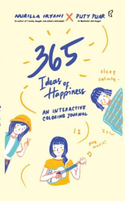 Cover Buku 365 Ideas of Happiness (Republish)
