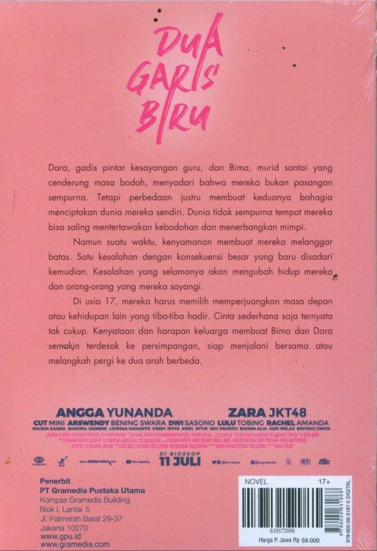 Cover Belakang Buku Dua Garis Biru